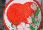 W-Large Heart w/ flowers