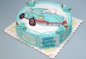 W-Car on round cake