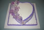 W- Heart cake